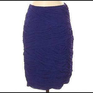 Antonio Melani Purple Ruched Skirt Size 4